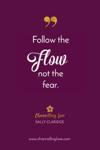 We are slave to our fears if we allow it to be so. Be brave and allow the Universal flow of life to guide you towards what's perfect for you.