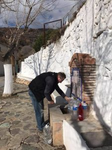Our favourite water filling station in Lanjaron