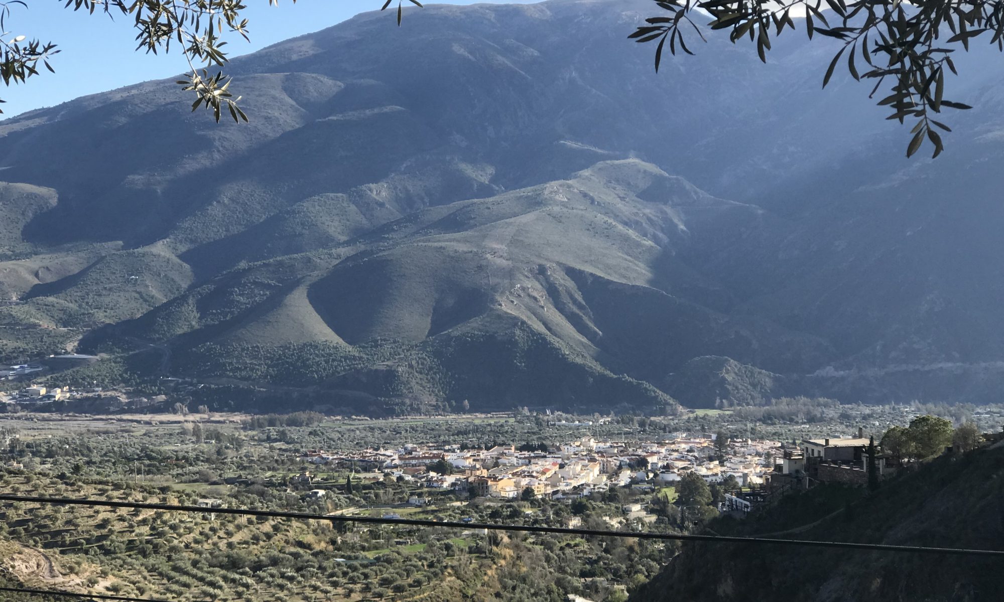 The beauty of Orgiva and Sierra Lujar mountain.