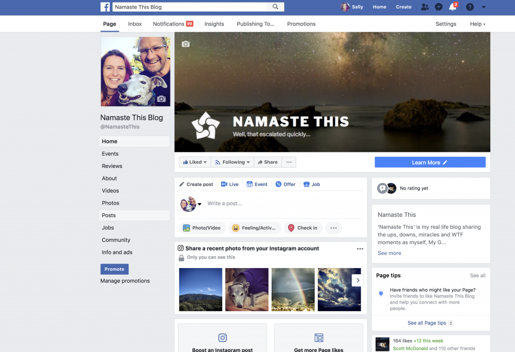 Join Namaste This Blog on Facebook!
