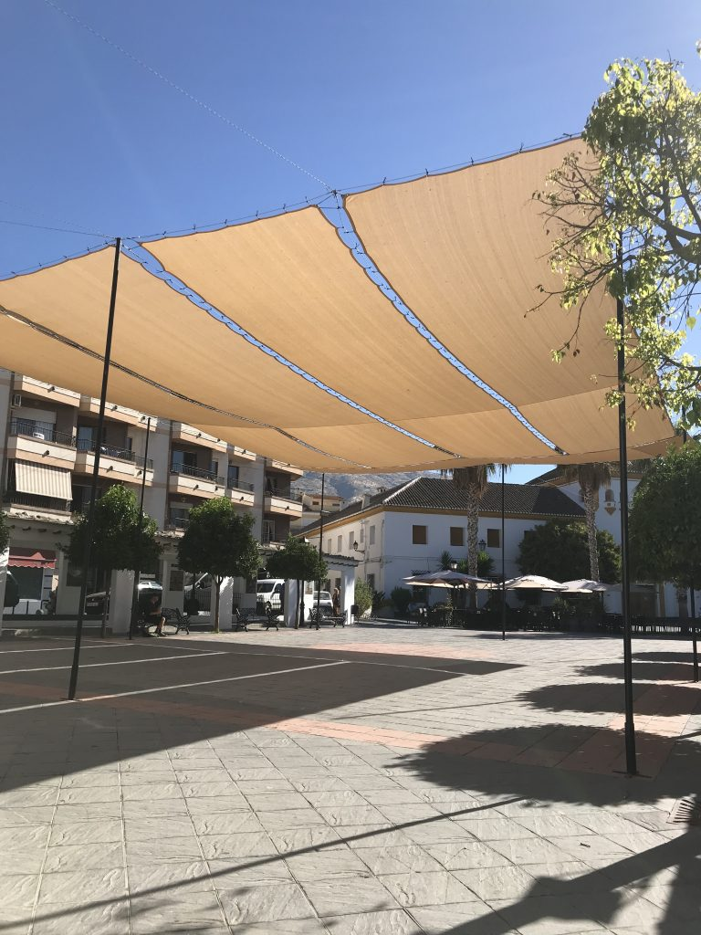 The Plaza shaded from the summer sun...