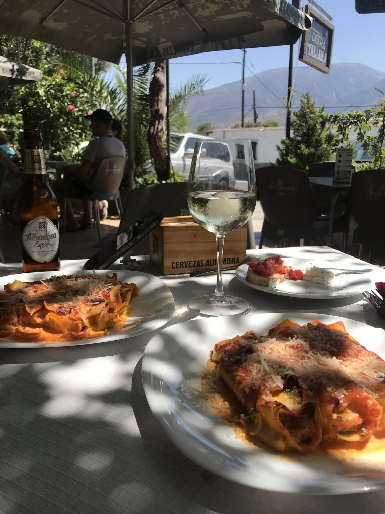 YUM... best authentic hand made Italian pasta and food in the Alpujarras!